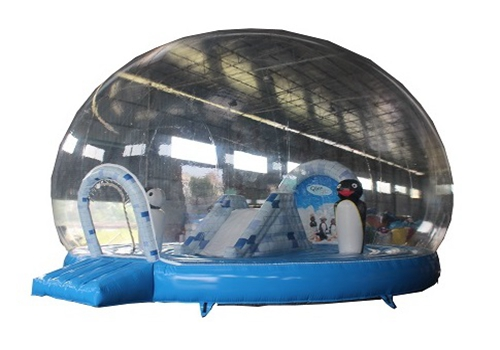 Penguin inflatable snow global bouncer