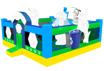 Paw patrol inflatable fun park