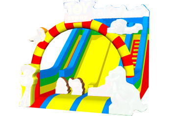 Funny toys stroy double line slide