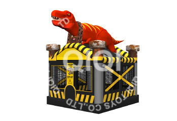 Dinosaur-inflatable-air-jumping-castle
