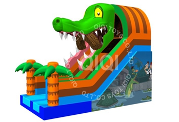 Crocodile jumping slide