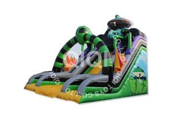 Alien Inflatable Bouncy Slide