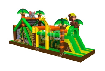 jungle inflatable obstacle