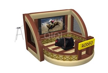 rodeo mechanical bull with projector
