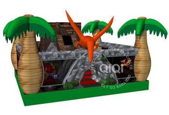 Dinosaurs cave with slide playground