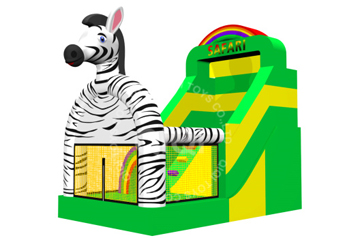 safari with zebra theme slide