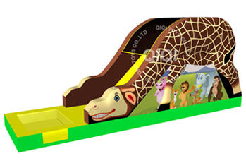 Giraffe jungle theme slide