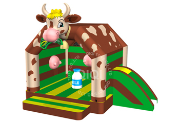 the new cow theme inflatable combo