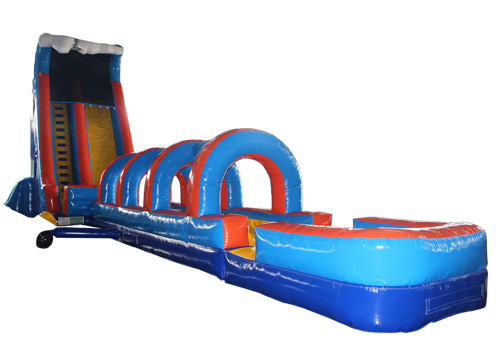 61FT Wave Inflatable Slip Splash Slide