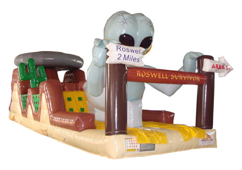 Aliens Inflatable Obstacle Course