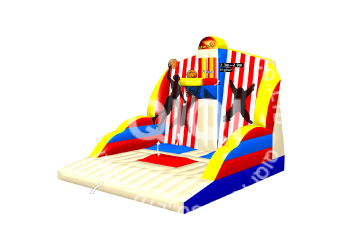 Basketball and velcro wall sport game