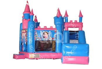 Blue Inflatable Princess Castle
