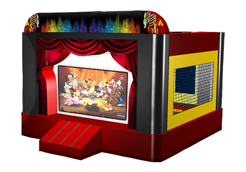 Bouncy Castle with Movie Screen