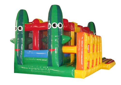 Cactus & Clown Inflatable Playground