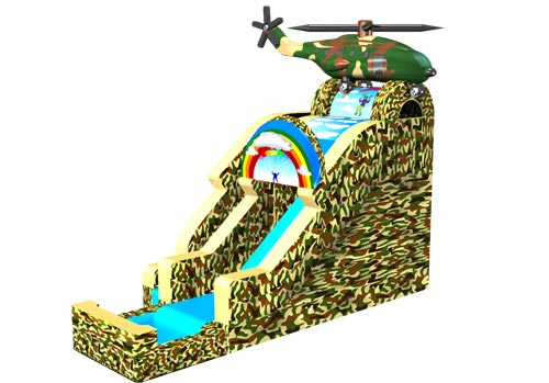 Camo Army Helicopter Splash Slide