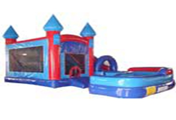 Classic Inflatable Combo with Slip & Pool