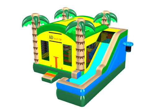 Multi Coconut trees Bouncy Slide Combo