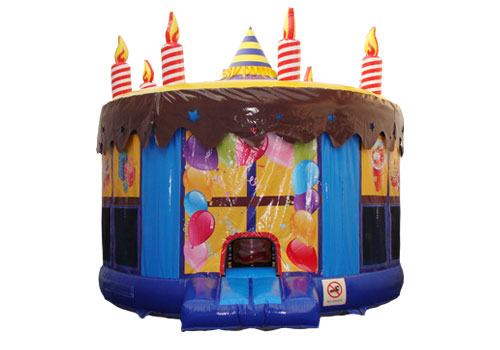 Colorful Birthday Cake Inflatable Bouncer