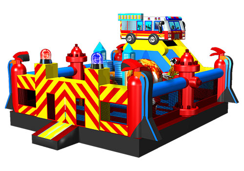 Commercial Inflatable Fire Station Playground