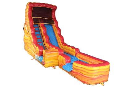Flame Inflatable Water Slide