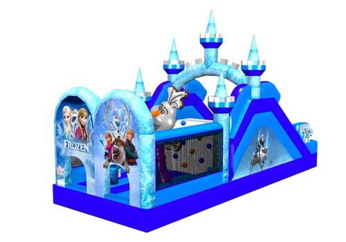 Frozen Castle Inflatable Obstacle Playground