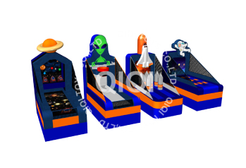 Inflatable multi sport games outer space theme