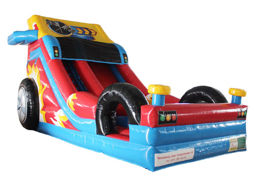 Inflatable Crazy Racing Car Slide