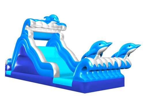Inflatable Dolphin Water Slide For Backyard