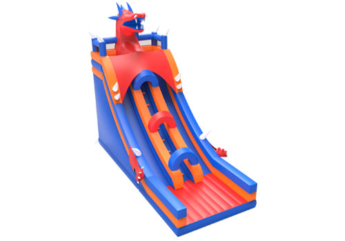 Inflatable Fiery Dragon Slide