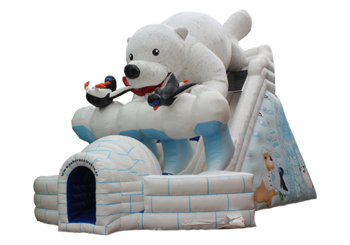 Inflatable Gaint Polar Bear Slide
