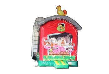 Inflatable farm barn moonwalk bouncer