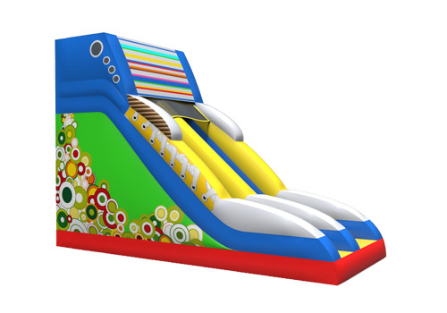 Inflatable giant shoe slide