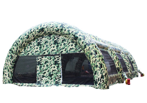 Inflatable military camouflage color tent