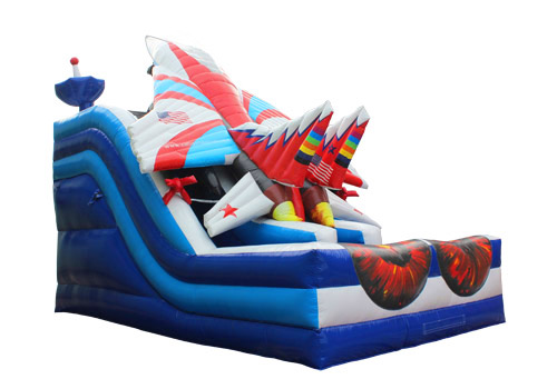 Inflatable warcraft fighter slide