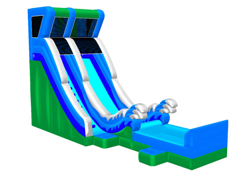 Inflatable Wave Water Slide With Pool