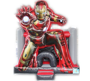 Iron Man inflatable castle