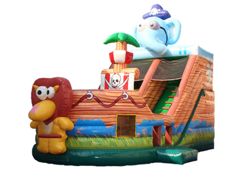 Jungle Animal Jumping Slide