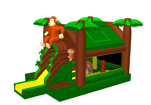 Jungle Bouncing Castle With Slide