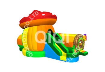 Mushroom inflatable tunnel combo castle