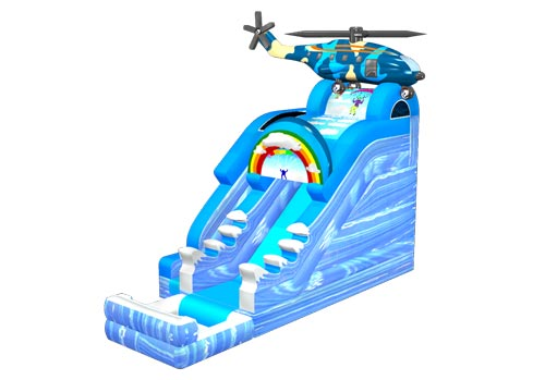 Naval Air Force Helicopter Water Slide