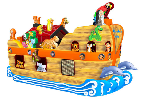 Noahs Ark Inflatable Animal Obstacle Attraction