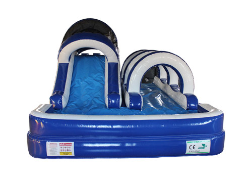 Ocean Blue Inflatable Backyard Water Slide