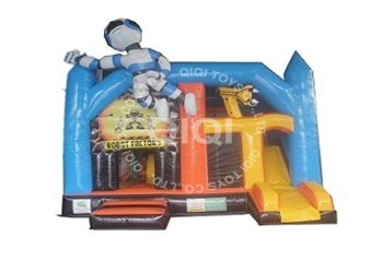 Robot Factory Inflatable Kids Bouncy Castle