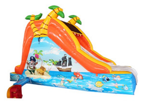 backyard inflatable slide