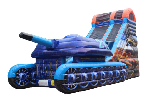 Tank War Inflatable Slide