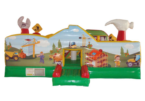 The Little Builders inflatable playground