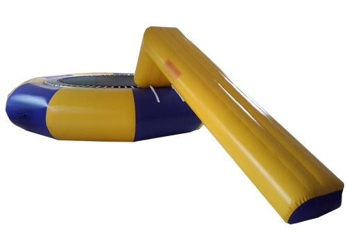 Water Trampoline With Slide Combo