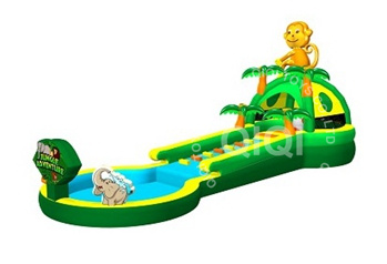 inflatable playzone jungle water slide