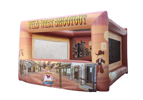 Inflatable wild west shootout