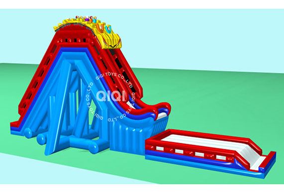 Inflatable Roller Coaster Slide N Drop Kick